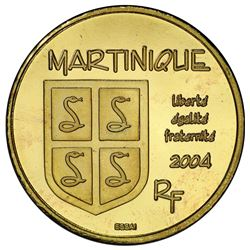MARTINIQUE: AV 20 euro, 2004. PCGS PF68
