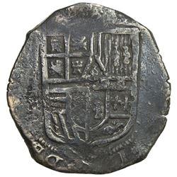 MEXICO: Felipe IV, 1621-1665, cob AR 8 reales (26.99g). VF