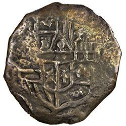 MEXICO: Felipe IV, 1621-1665, cob AR 4 reales (10.81g). F