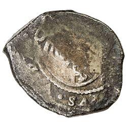 MEXICO: Philip V, 1700-1746, AR 8 reales cob (26.20g), DM [1706-23]. F