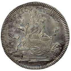 MEXICO: AR medal, 1828. EF-AU