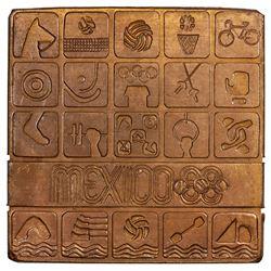 MEXICO: AE plaque (114.4g), [19]68. UNC