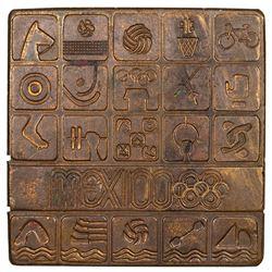 MEXICO: AE plaque (114.6g), [19]68. UNC