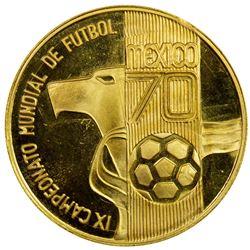 MEXICO: AV medal (5.82g), 1970. PF