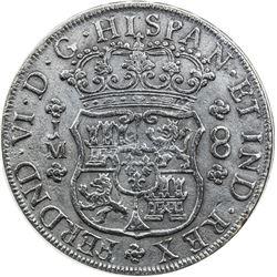 PERU: Carlos III, 1759-1788, AR 8 reales, 1755-L. PCGS EF