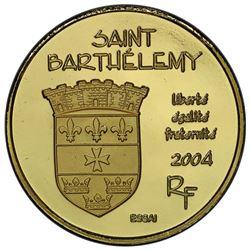 ST. BARTHELEMY: AV 20 euro, 2004. PCGS PF69