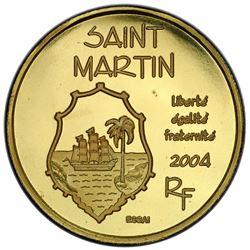 ST. MARTIN: AV 20 euro, 2004. PCGS SP68