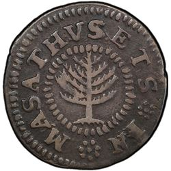 UNITED STATES: Colonial issue, 1652 Pine Tree shilling, small planchet
