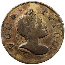 UNITED STATES: Colonial issue, Voce Populi copper, 1760