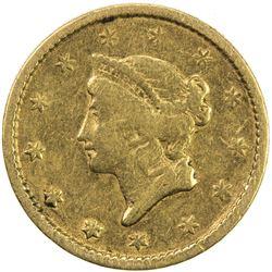 UNITED STATES: AV dollar, 1851. F