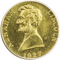 UNITED STATES: AV token, 1927. ANACS MS60