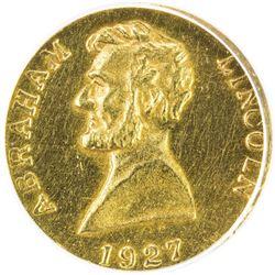 UNITED STATES: AV token, 1927. ANACS AU58