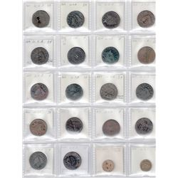 UNITED STATES: LOT of 38 United States coins with countermarks