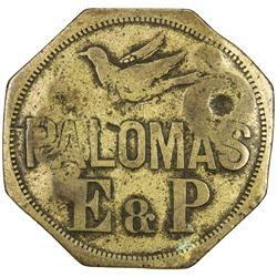 VENEZUELA: 4 (reales) token (8.35g), ND [1897]. F-VF