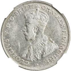AUSTRALIA: George V, 1910-1936, AR florin, 1932. NGC VF25