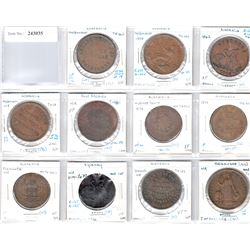 AUSTRALIA: LOT of 11 Colonial penny tokens