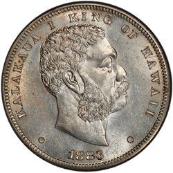 HAWAII: Kalakaua, 1874-1891, AR dollar (akahi dala), 1883. PCGS MS61