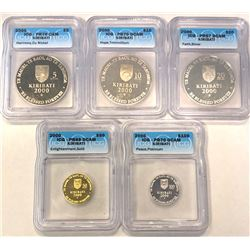 KIRIBATI: Republic, 5-coin proof set, 2000