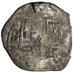 CHINESE CHOPMARKS: MEXICO: Felipe IV, 1621-1665, AR cob 8 reales (27.31g). F
