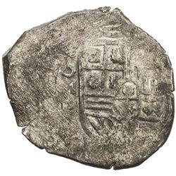 CHINESE CHOPMARKS: MEXICO: Felipe IV, 1621-1665, AR cob 8 reales (27.85g). F