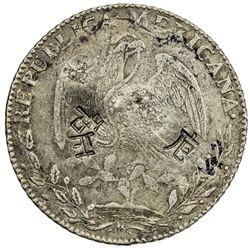 CHINESE CHOPMARKS: MEXICO: Republic, AR 8 reales, 1846-Go. F-VF