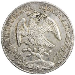 CHINESE CHOPMARKS: MEXICO: AR 8 reales, 1893-As. AU