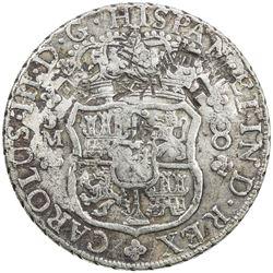 CHINESE CHOPMARKS: PERU: Carlos III, 1759-1788, AR 8 reales, 1769-LM. F-VF