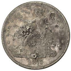CHINESE CHOPMARKS: UNITED STATES: AR trade dollar, 1875-CC. EF