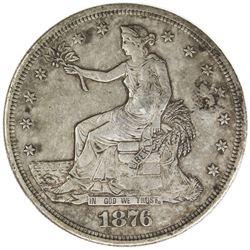 CHINESE CHOPMARKS: UNITED STATES: AR trade dollar, 1876-S. VF-EF