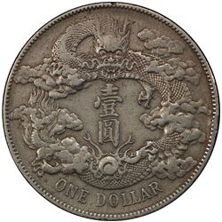CHINA: Hsuan T'ung, 1909-1911, AR dollar, year 3 (1911). PCGS EF