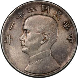 CHINA: Republic, AR dollar, year 21 (1932). PCGS MS62