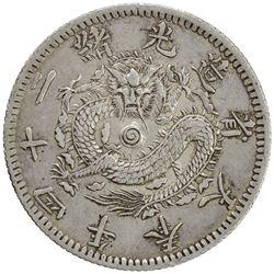 FENGTIEN: Kuang Hsu, 1875-1908, AR 20 cents, year 24 (1898). EF