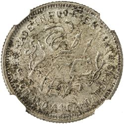FUKIEN: AR 20 cents, CD1924. NGC MS63