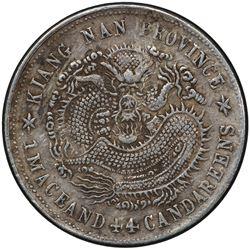 KIANGNAN: Kuang Hsu, 1875-1908, AR 20 cents, CD1901. PCGS EF