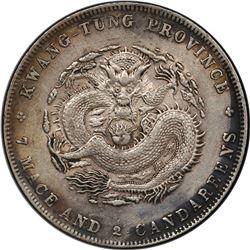 KWANGTUNG: Kuang Hsu, 1875-1908, AR dollar, ND (1890-1908). PCGS EF