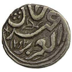 SINKIANG: Ya'qub Beg, 1864-1877, AR 1/2 miscal (5 fen), (1.83g), Kashghar, AH1292//1292. VF