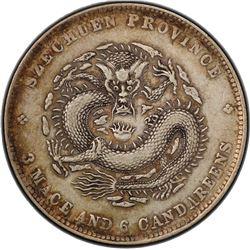 SZECHUAN: Kuang Hsu, 1875-1908, AR 50 cents, ND (1901-08). PCGS EF40
