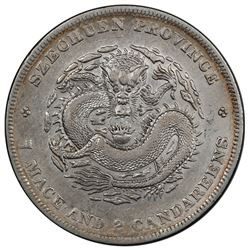 SZECHUAN: Kuang Hsu, 1875-1908, AR dollar, ND (1901-08). PCGS EF