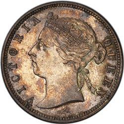 HONG KONG: Victoria, 1841-1901, AR 20 cents, 1887. PCGS AU55