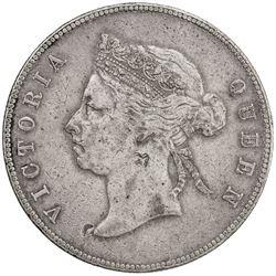 HONG KONG: Victoria, 1837-1901, AR 50 cents, 1891. VF-EF