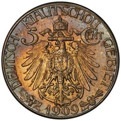 KIAUCHAU: Wilhelm II, 1898-1914, 5 cents, 1909. PCGS MS63