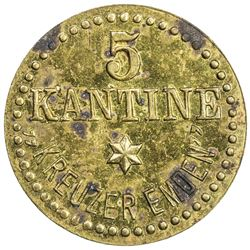 KIAUCHAU: Wilhelm II, 1898-1914, 5 pfennig, ND. UNC