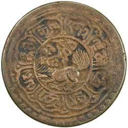 TIBET: AE 5 skar, Mekyi mint, year 15-51 (1917). F-VF