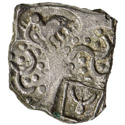 ANDHRA: Upper Tapti series, ca. 340-265 BC, AR 15 manas (1.68g). EF