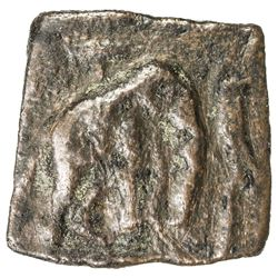 CHOLA: Sangam Era, ca. 200 BC to 200 AD, AE square (2.47g). VF