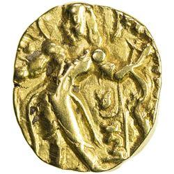 GUPTA: Chandragupta II, 383-412, AV dinar (7.86g). VF