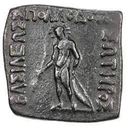 INDO-GREEK: Apollodotus I, ca. 180-160 BC, AE unit (9.51g). VF