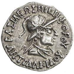 INDO-GREEK: Antialkides, ca. 115-95, AR drachm (2.43g). EF