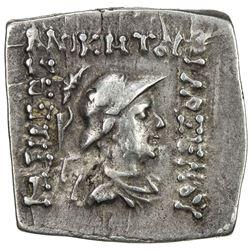 INDO-GREEK: Philoxenos, ca. 100-95 BC, AR square drachm (2.42g), Bop-6A, VF