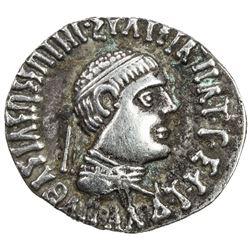 INDO-GREEK: Apollodotus II, ca. 80-65 BC, AR drachm (2.38g). VF-EF